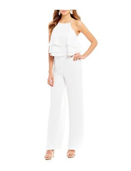 Gianni Bini Denise Tiered Ruffle Popover Jumpsuit by Gianni Bini
