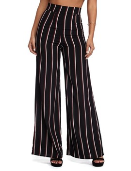 Black Movin' On Up Striped Pants by Windsor