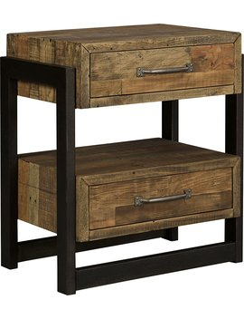 Sommerford Two Drawer Night Stand Brown/Casual by Signature Design By Ashley