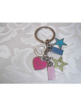 Authentic Coach Hearts &Amp; Stars Charm Mix Keychain Fob Fs1628 Rare by Coach