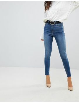 Asos Ridley High Waist Skinny Jeans In Neo Bright Blue Wash by Asos Collection