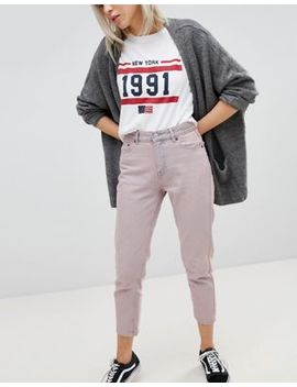Pull&Bear Cropped Mom Jeans by Pull&Bear
