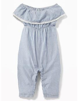 striped-pom-pom-trim-romper-for-baby by old-navy