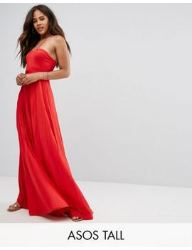 Asos Tall Pleated Maxi With Strappy Neck Dress by Asos Tall