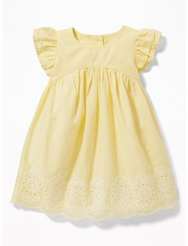Flutter Sleeve Eyelet Dress For Baby by Old Navy