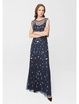 Bead Tulle Dress by Mango