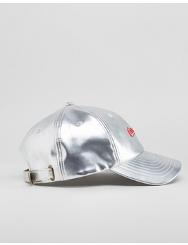 Hype X Coca Cola Baseball Cap In Metallic Silver by Hype