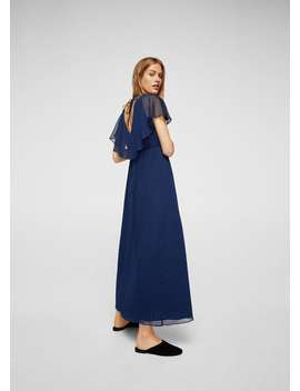 Double Layer Long Dress by Mango