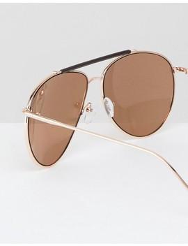 Aj Morgan Skyward Square Sunglasses In Gold by Aj Morgan