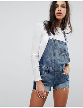Blank Nyc Dungaree Shorts With Contrast Side Panel by Blank Nyc