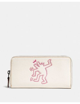 Coach X Keith Haring Accordion Zip Wallet by Coach