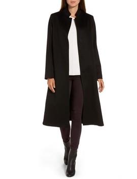Inverted Lapel Loro Piana Wool Coat by Fleurette