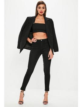 Black Sinner Supersoft Split Hem Jeans by Missguided