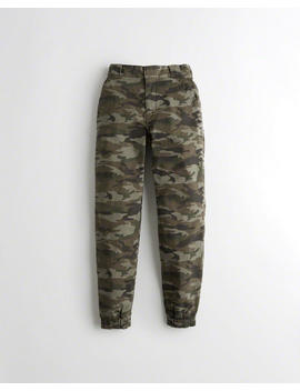 Ultra High Rise Twill Jogger Pants by Hollister