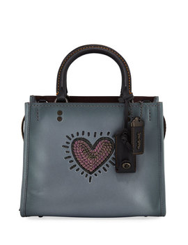 X Keith Haring Rogue 25 Bag With Sequined Heart by Coach 1941