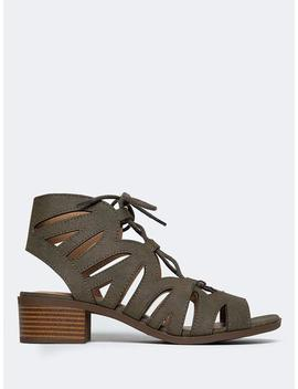 Low Heel Gladiator Sandal by Zooshoo