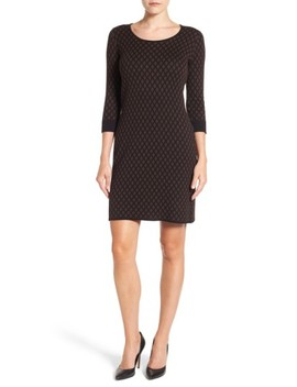 Diamond Print Sweater Dress by Foxcroft