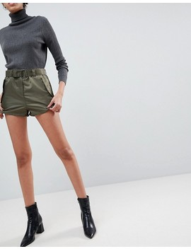 Asos Belted Runner Shorts In Sporty Nylon by Asos Collection