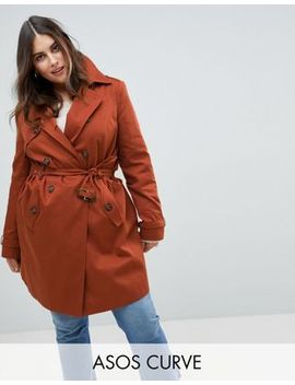 Asos Curve Classic Trench Coat by Asos Curve