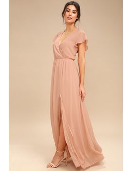 Lost In The Moment Blush Maxi Dress by Lulus