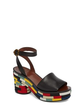 Camilla Embroidered Platform Sandal by Tory Burch