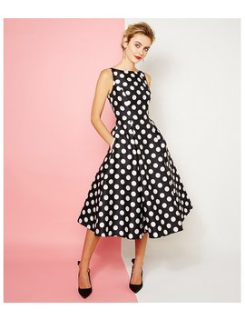 Polka Dot Mikado Dress by Adrianna Papell