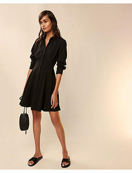 Fit And Flare Shirt Dress by Express