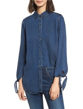 Bethany Tie Cuff Denim Shirt by Rails