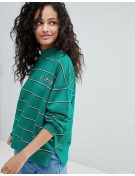 Bershka Stripe Charming Sweatshirt by Bershka