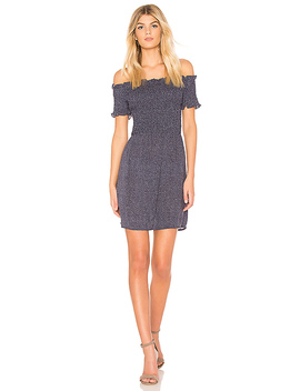 Spotty Off Shoulder Dress by Minkpink