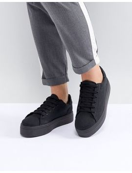 Asos Design Day Light Wide Fit Flatform Lace Up Sneakers by Asos Design