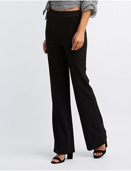 Double Knit Crepe Palazzo Pants by Charlotte Russe