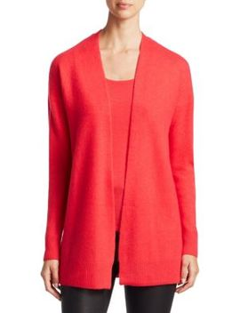 Collection Featherweight Cashmere Open Cardigan by Saks Fifth Avenue