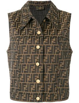 Double Logo Buttoned Vest by Fendi Vintage