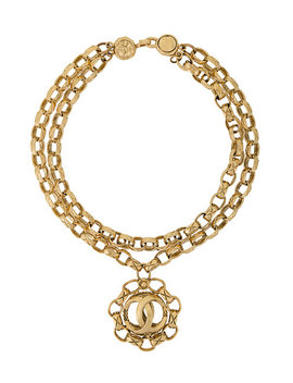 Chunky Chain Logo Necklace by Chanel Vintage