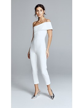 Seina One Shoulder Cropped Jumpsuit by Cushnie Et Ochs