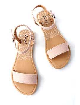 Joyce Blush Flat Sandals by Lulu's