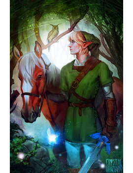 The Legend Of Zelda   Link And Epona Open Edition Art Print 11x17 Inch by Etsy