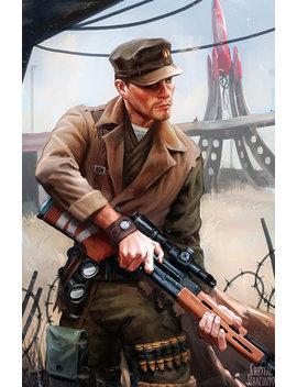 Fallout 4 Robert Joseph Maccready Open Edition Art Print 11x17 Inch by Etsy