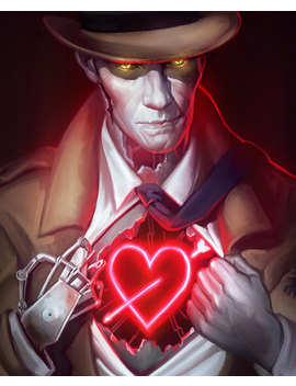 Fallout 4 Nick Valentine Open Edition Art Print 8x10 Inch by Etsy