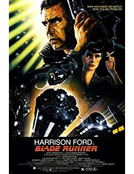 Blade Runner Movie Poster 24 X36 Ridley Scott Starring Harrison Ford, Rutger Hauer, And Sean Young Dystopian Science Fiction Thriller Film by Hse