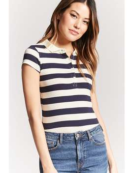 Stripe Horse Graphic Polo Shirt by Forever 21