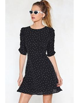 What's Your Ruche Hun Polka Dot Dress by Nasty Gal