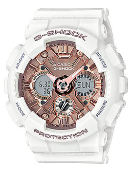 G Shock Gmas120 Mf 7 A White & Rose Gold Watch by G Shock