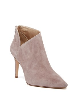 Ramona Asymmetrical Suede Bootie by Enzo Angiolini