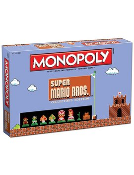 Monopoly: Super Mario Bros Collector's Edition Board Game by Us Aopoly