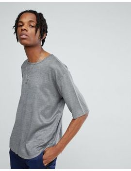 Mennace Oversized T Shirt In Gray Suede by Mennace