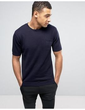 French Connection Crew Neck Knitted Top With Pocket by French Connection