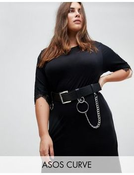 Asos Curve Chain & Ring Detail Waist & Hip Belt by Asos Curve