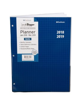 Plan Ahead See It Bigger 2 Year Monthly Planner, 2018 2019, Assorted Colors, Large Print by Plan Ahead